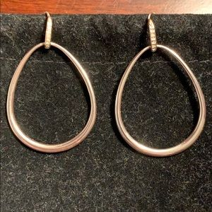 Stella & Dot SILVER hoop Earrings